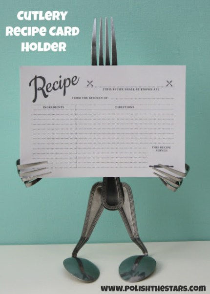 Cutlery Recipe Card Holder