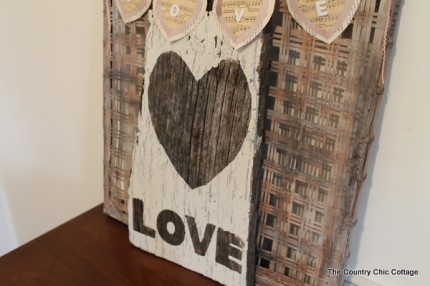 Rustic Barn Wood Love Sign