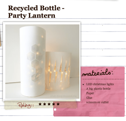 Recycled Bottle Party Lanterns from CraftBits.com @craftgossip