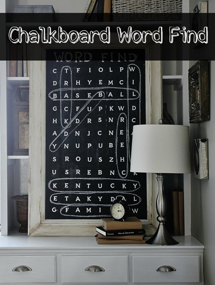 Chalkboard Word Search Wall Art