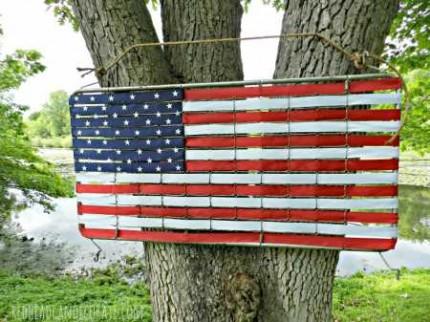 Crib Mattress Spring American Flag