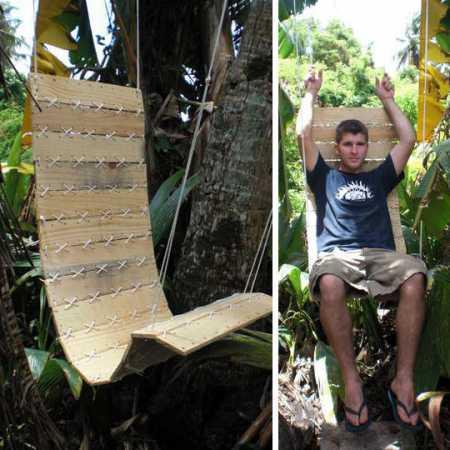 Diy Pallet Outdoor Chair Home And Garden