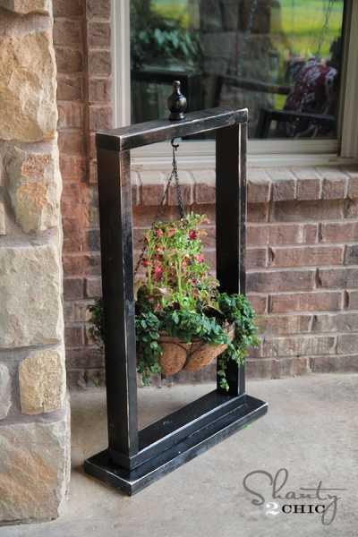 DIY Hanging Basket Stand