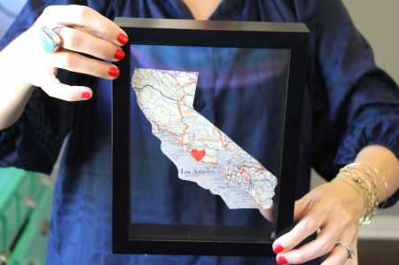 DIY Home State Wall Art: Great going away present