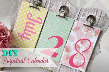 Diy Perpetual Calendar – Home And Garden
