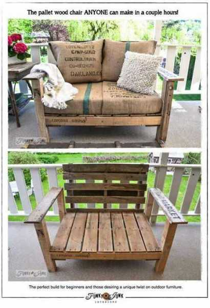 Awesome Pallet Love Seat (With Working Links)