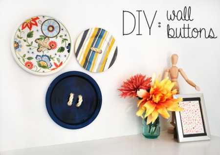 Gorgeous DIY Button Wall Art Made From Old Plates