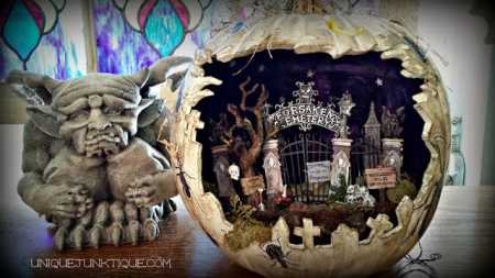 Spooky Diorama Pumpkin Home And Garden