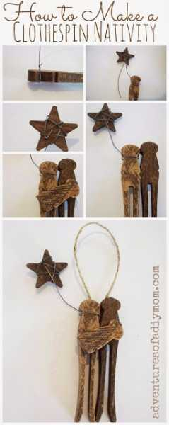 clothespin nativity Collage
