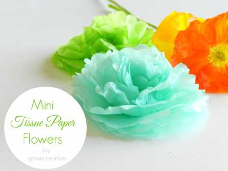 Mini tissue paper flowers using paper punch home and garden here is a free craft tutorial for making easy and pretty mini tissue paper flowers using a paper punch sent to us by elise of growcreative mightylinksfo