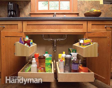 DIY Pull-Out Under Sink Kitchen Drawers