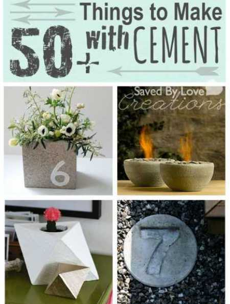 50 things to make with cement home and garden