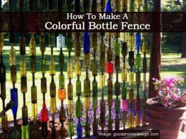 Colorful-Bottle-Fence