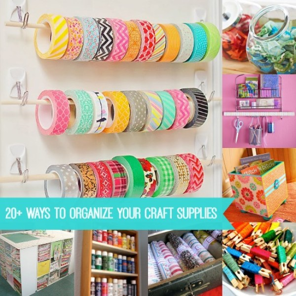 Tips for organizing your craft supplies home and garden for Craft supply organization ideas
