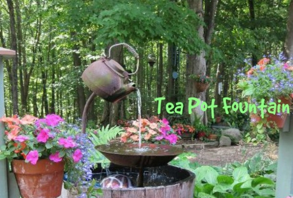 Diy Tea Pot Fountain Home And Garden