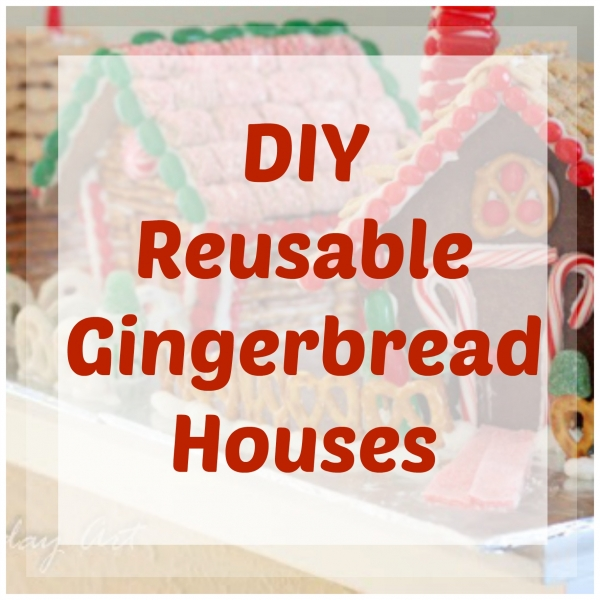 Make Your Own Reusable Gingerbread Houses Home And Garden