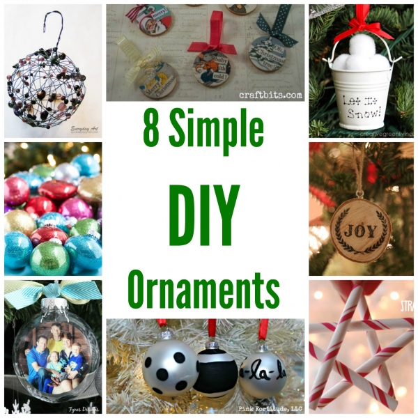 8 Simple DIY Ornaments