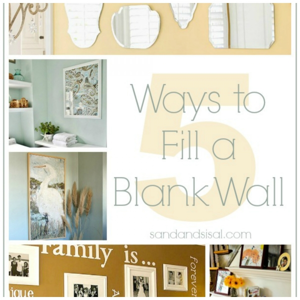 Have a blank wall that you don't know how to decorate ...