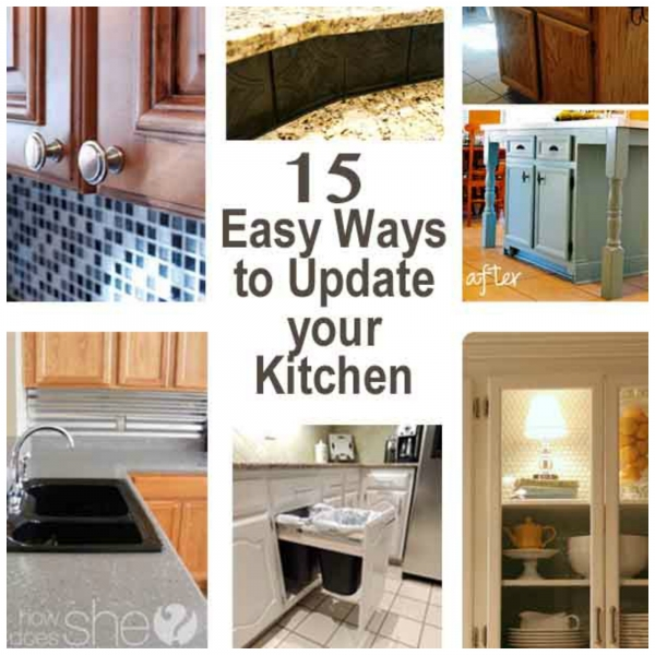 Easy Kitchen Updates easy ideas for beautiful kitchen updates – home and garden