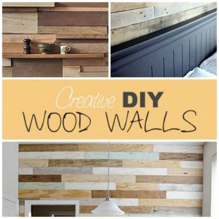Creative and Rustic DIY Wood Walls – Home and Garden