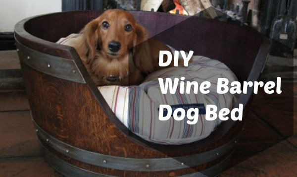 diy-wine-barrel-dog-bed
