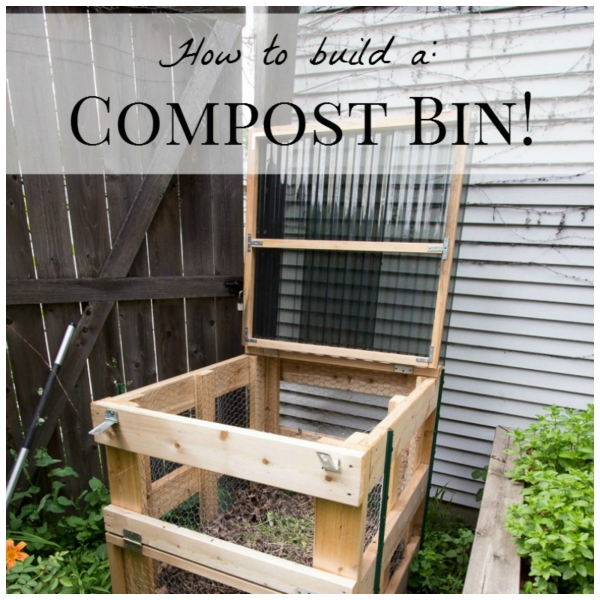 make your own compost bin home and garden. Black Bedroom Furniture Sets. Home Design Ideas
