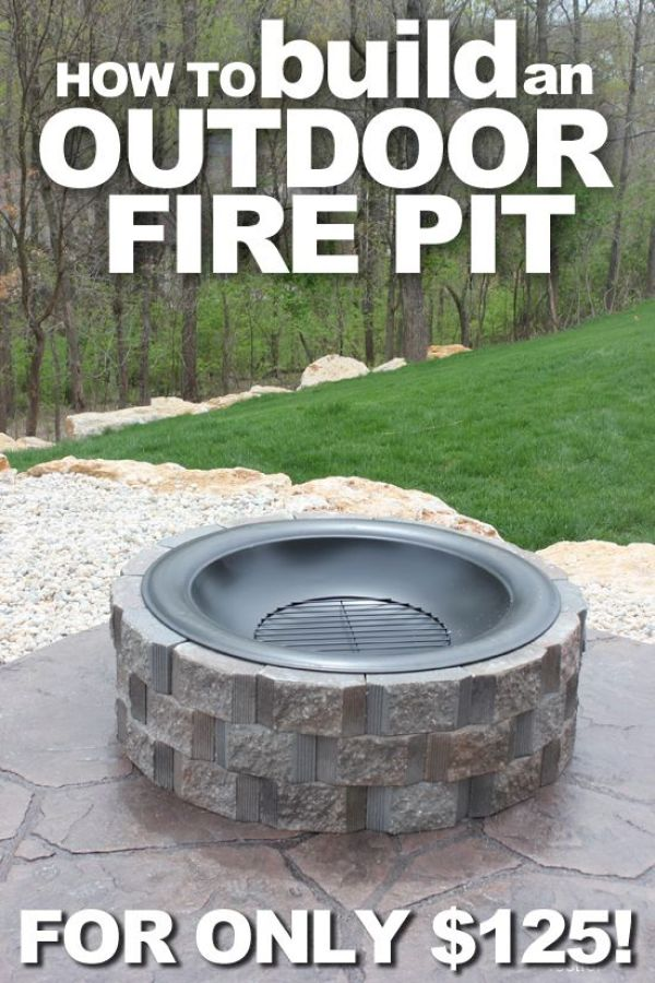 8 diy tutorials to make your own fire pit home and garden - Build your own outdoor fireplace ...