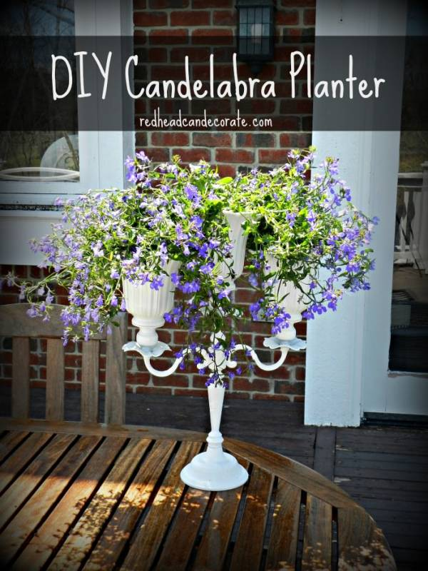 Upcycled Candelabra Planter Home And Garden