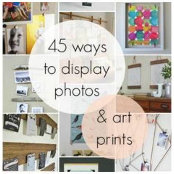 creative ways to display photos prints other than a