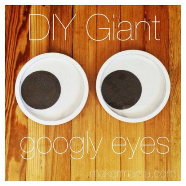 How to make giant googly eyes home and garden for Large googly eyes crafts