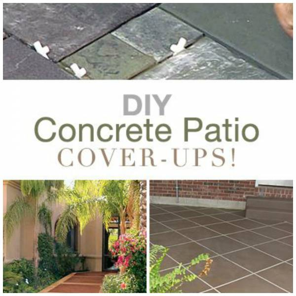 diy ideas to update your worn out concrete patio ? home and garden - Ideas To Cover Concrete Patio
