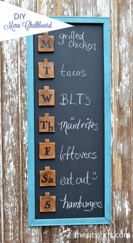 DIY Menu Board For Meal Planning