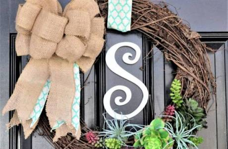 DIY Spring Succulent Wreath