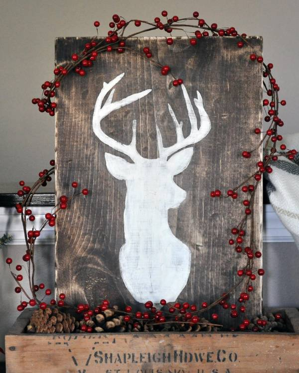 DIY Christmas Deer Silhouette