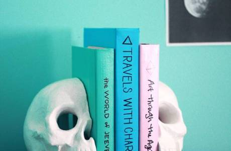 Make Your Own Skull Bookends