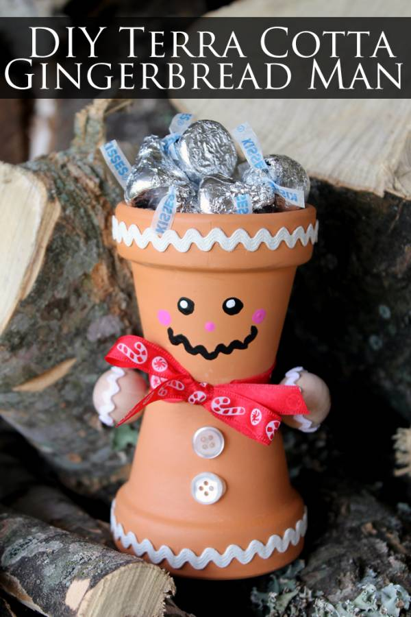 DIY Gingerbread Man Pot