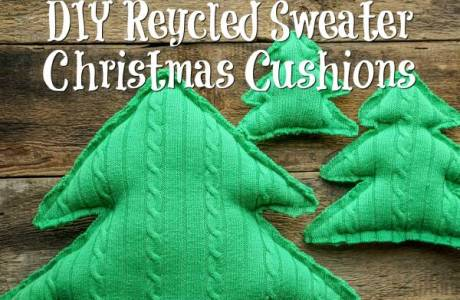 Recycled Sweater Christmas Cushions