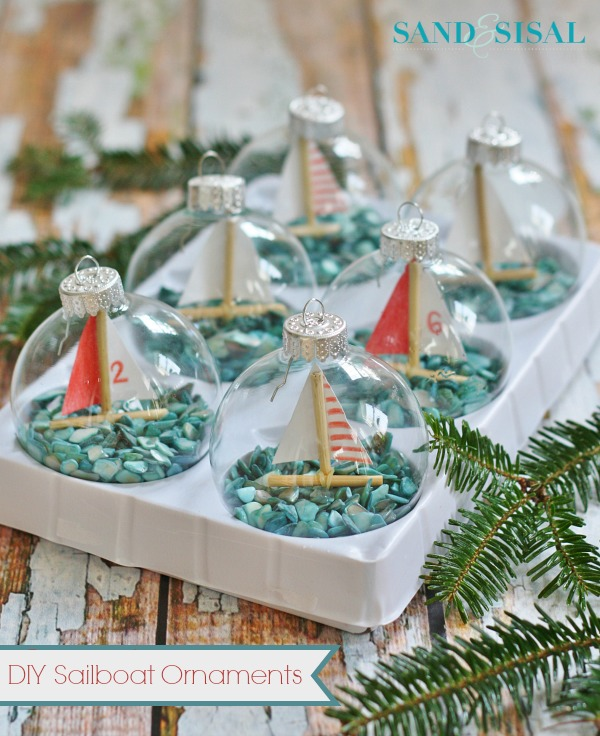 DIY Christmas Sail Boat Decorations