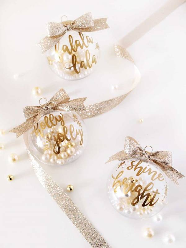 DIY Gold Ornaments