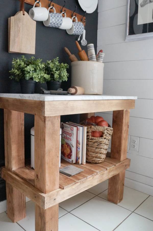 DIY Rustic French Kitchen Cart