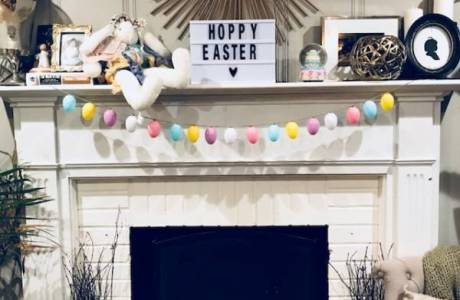 Easy Easter Garland Spring Decor