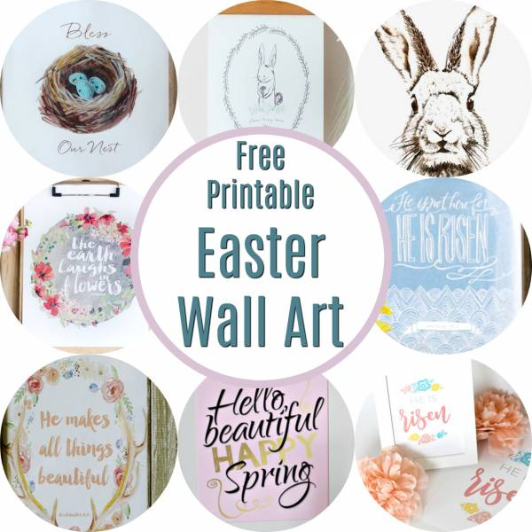 picture regarding Printable Easter Decorations identify Absolutely free Printable Easter Wall Artwork Dwelling and Backyard garden