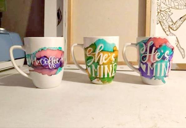 Cricut Craft – Alcohol Ink Mugs