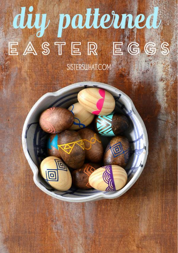 DIY Patterned Cricut Wooden Easter Eggs