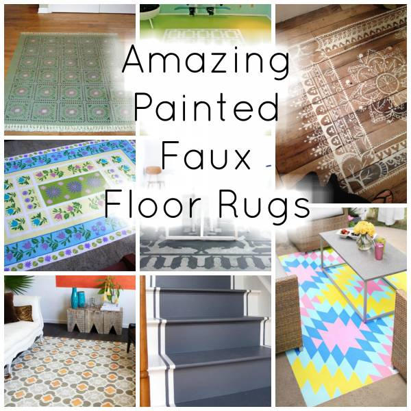 Amazing Diy Painted Faux Floor Rugs Home And Garden