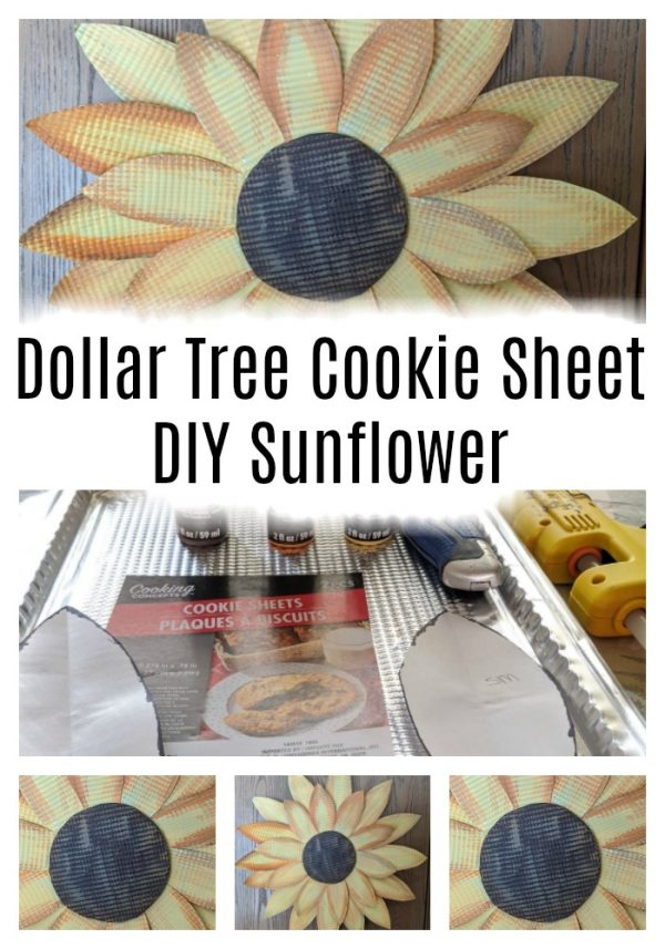 Dollar Tree Foil Tray Sunflower Farmhouse Wall Art Home And Garden