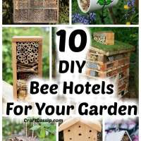 10 DIY Bee Hotels You Can Make For Your Garden
