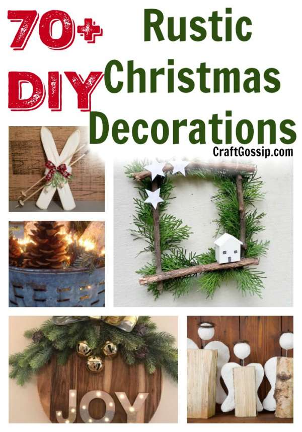 70 Diy Rustic Farmhouse Christmas Decorations Home And Garden