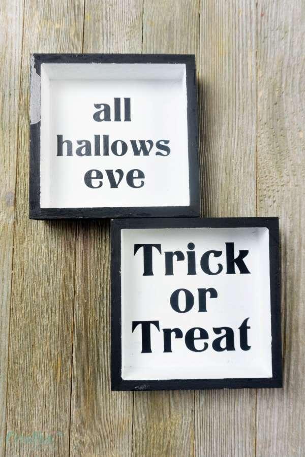 Halloween Wood Signs