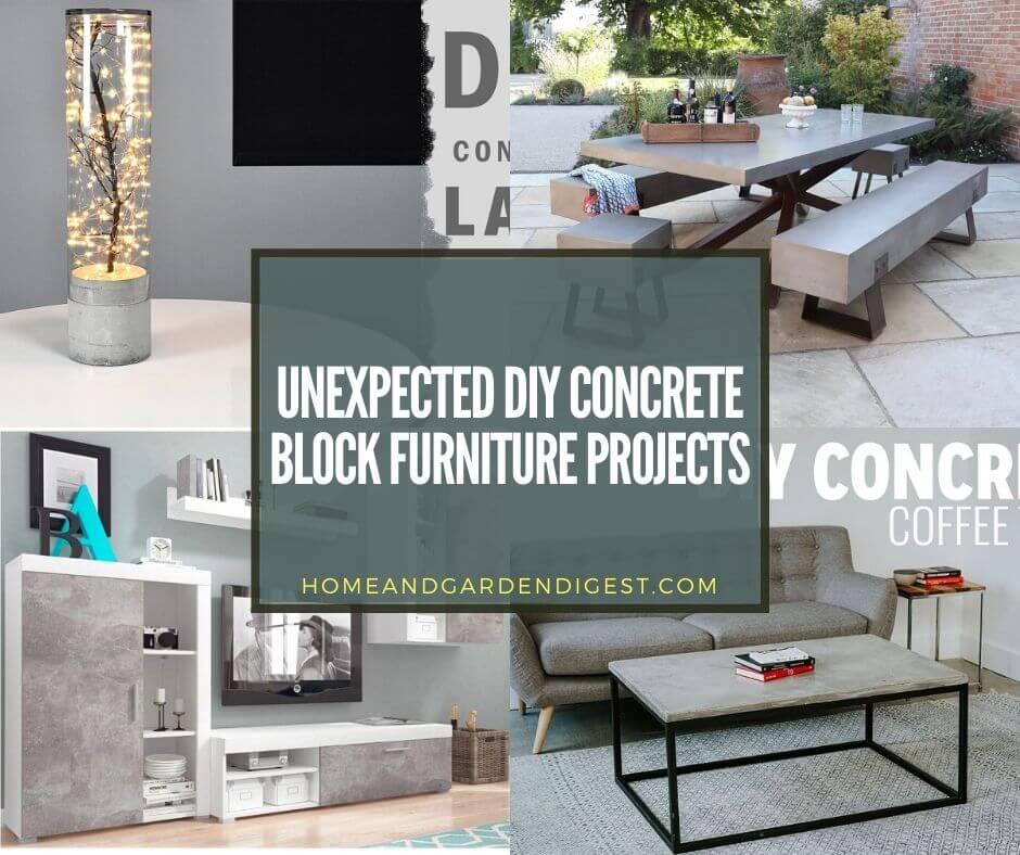 unexpected diy concrete block furniture